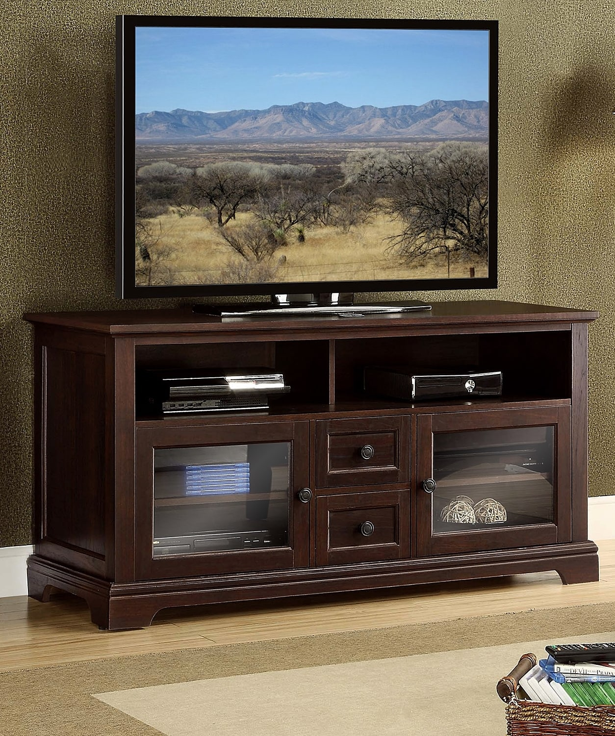 Entertainment Furniture - Matteo TV Credenza - Dark Cherry