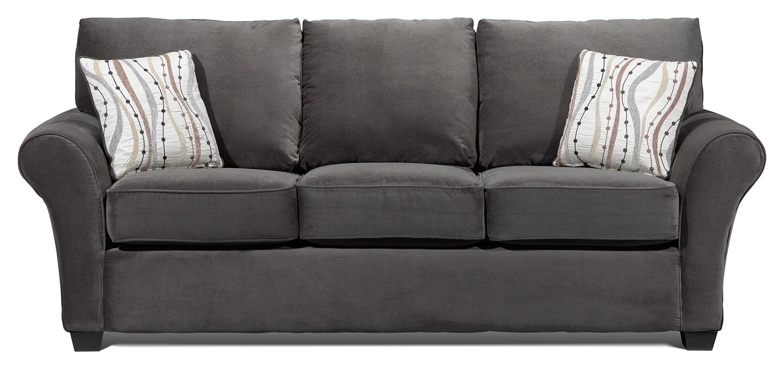 Langley sofa charcoal leon 39 s for Charcoal living room furniture