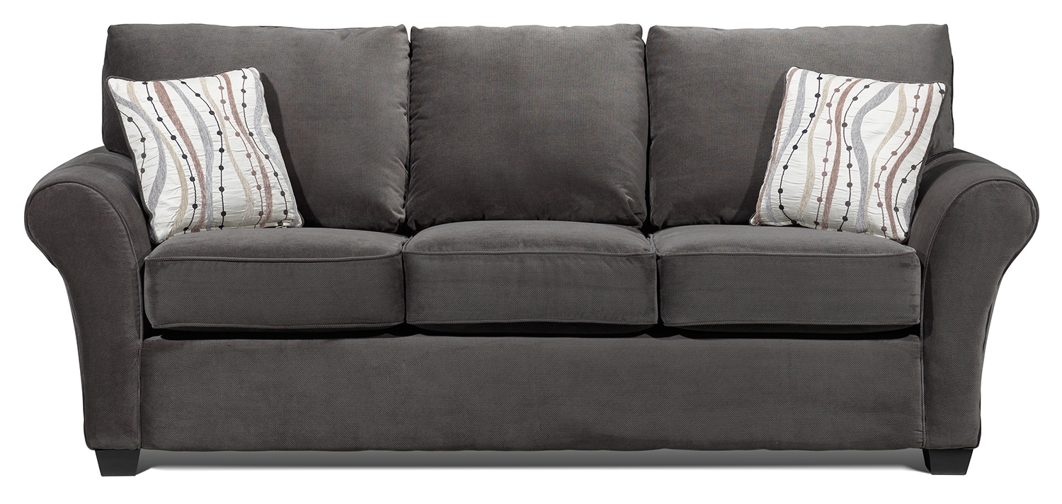 Living Room Furniture - Langley Sofa - Charcoal