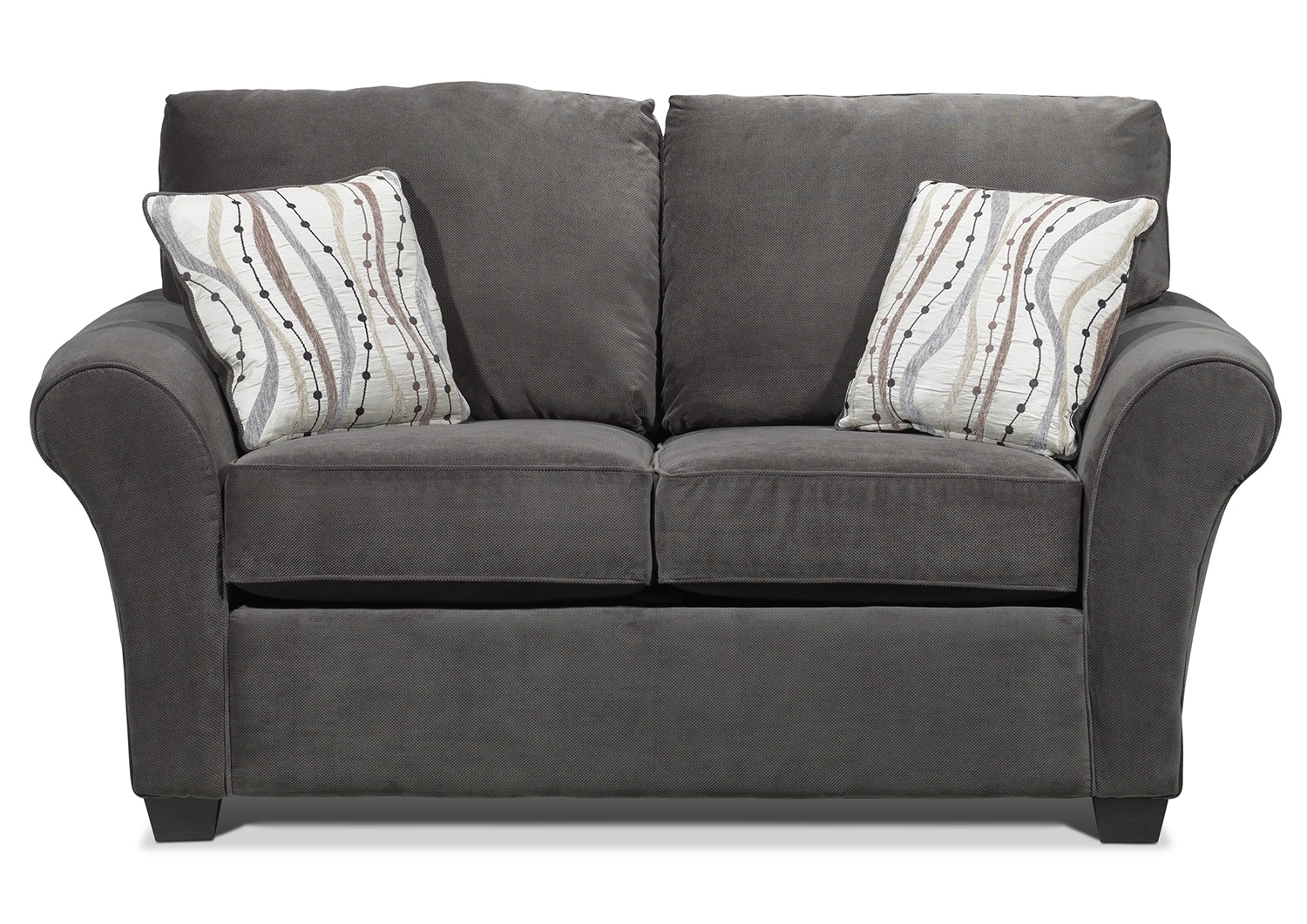 Living Room Furniture - Langley Loveseat - Charcoal