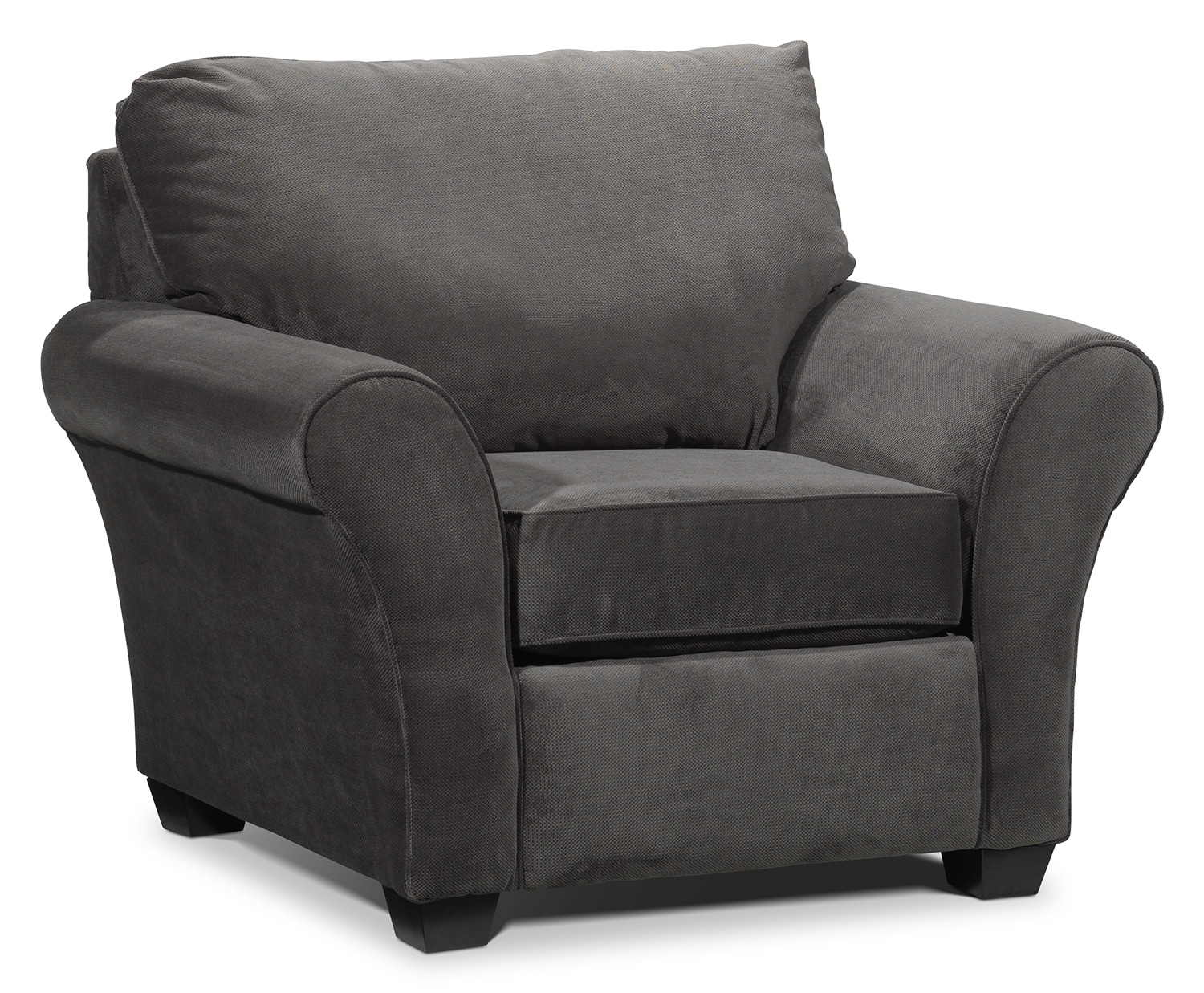 Living Room Furniture - Langley Chair - Charcoal