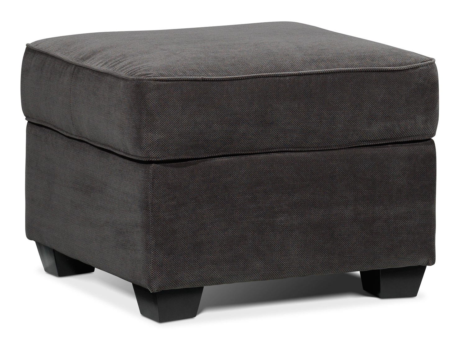 Living Room Furniture - Langley Ottoman - Charcoal