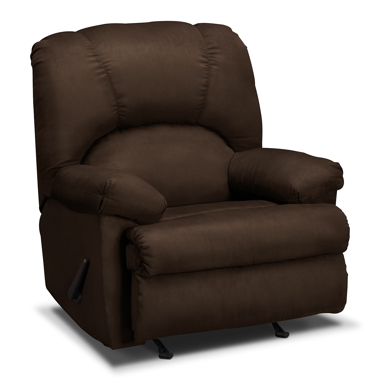 Quincy Rocker Recliner Chocolate American Signature