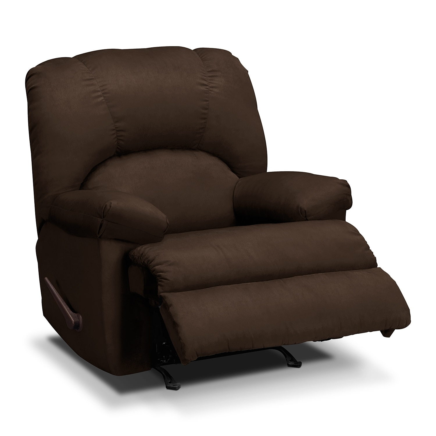 Quincy Rocker Recliner Chocolate Value City Furniture