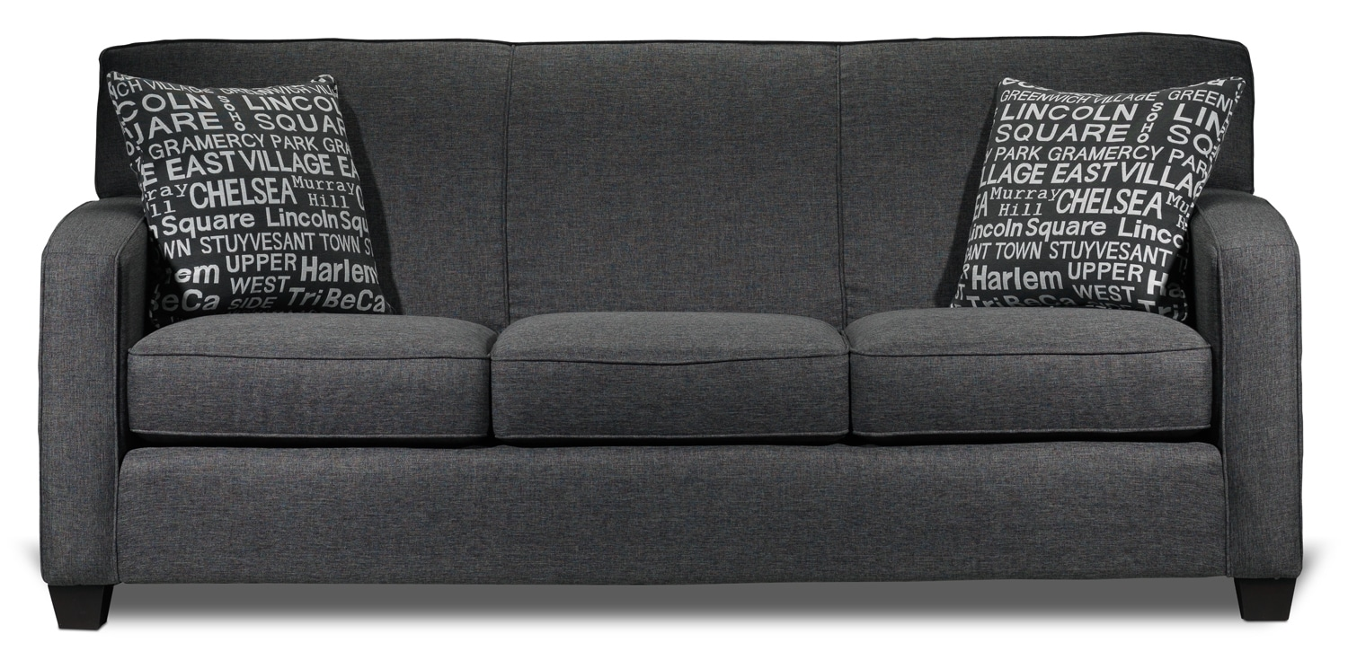 Living Room Furniture - Falcon Sofa - Graphite