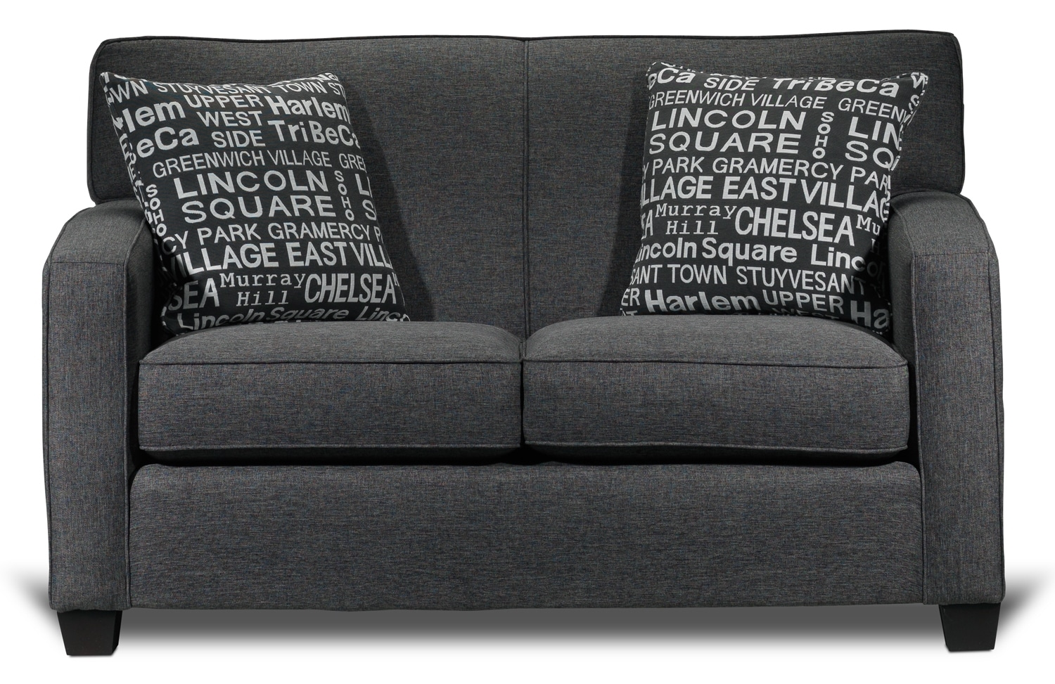 Living Room Furniture - Falcon Loveseat - Graphite