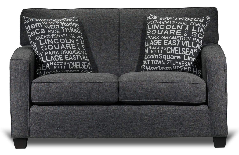 Living Room Furniture - Falcon Loveseat - Graphite