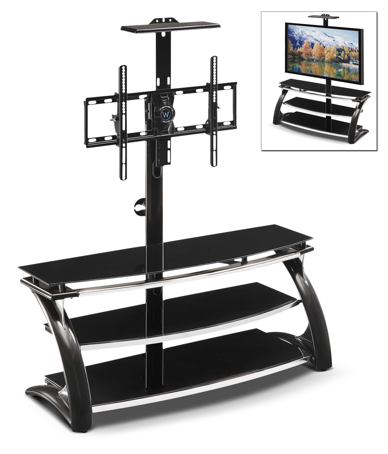 Lucas TV Stand  -  Black