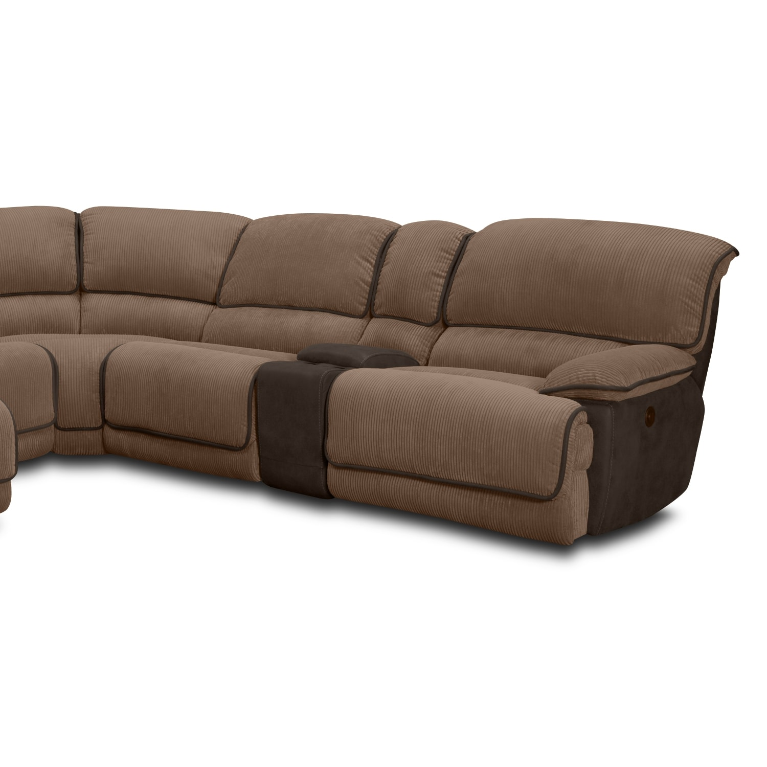 Midori 6 Pc Leather Power Reclining Sectional Sofa: Del Mar Ii Upholstery 6 Pc Power Reclining Sectional