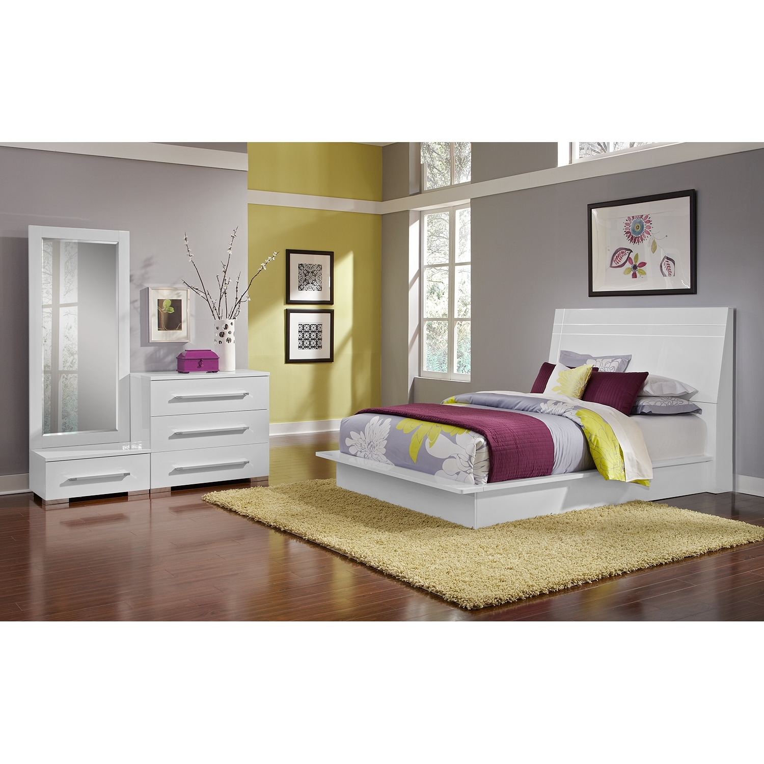 Dimora White Ii Bedroom 5 Pc King Bedroom Alternate