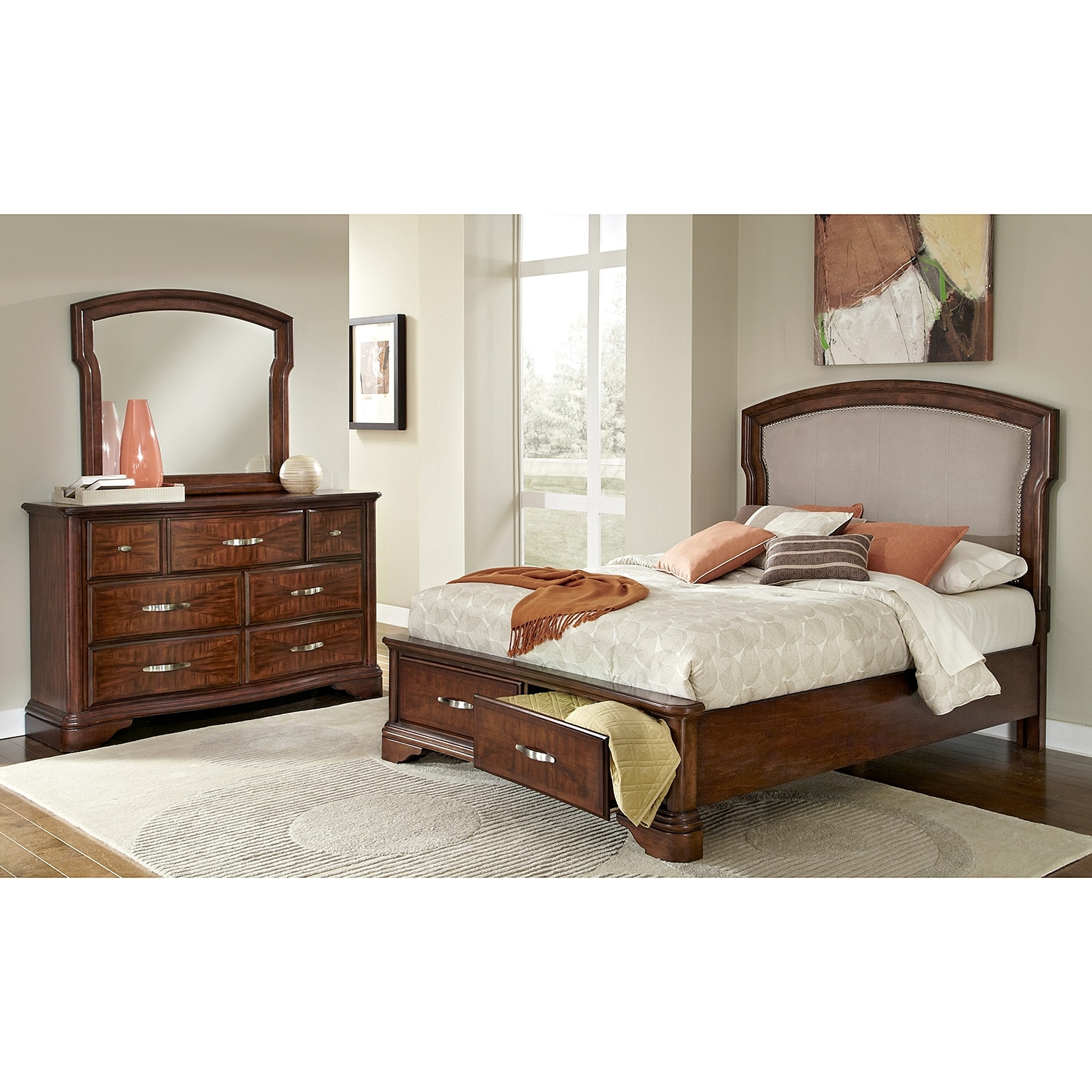 vanderbilt bedroom 5 pc king storage bedroom value city
