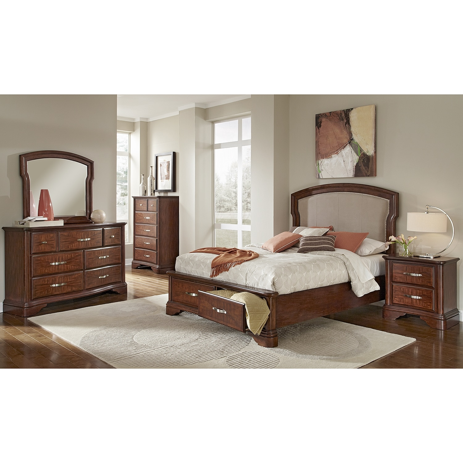 vanderbilt bedroom nightstand value city furniture. Black Bedroom Furniture Sets. Home Design Ideas