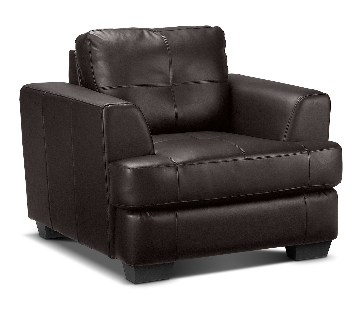Living Room Furniture - Caitlyn Chair - Dark Chocolate