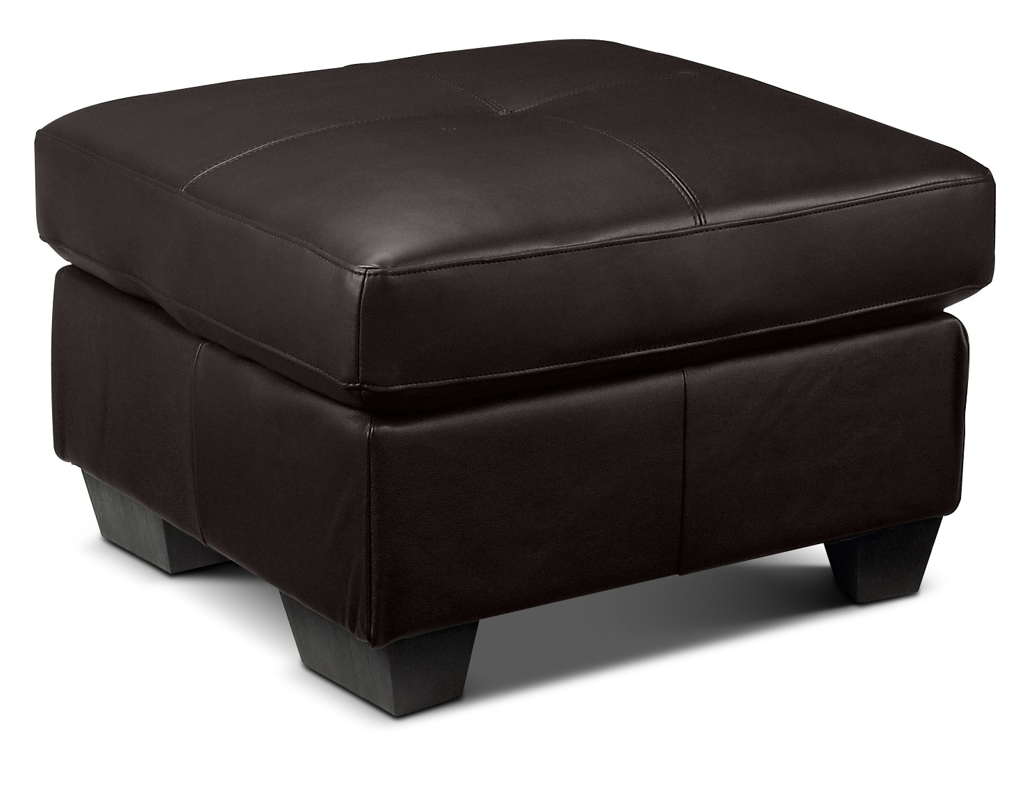 Living Room Furniture - Caitlyn Ottoman - Dark Chocolate