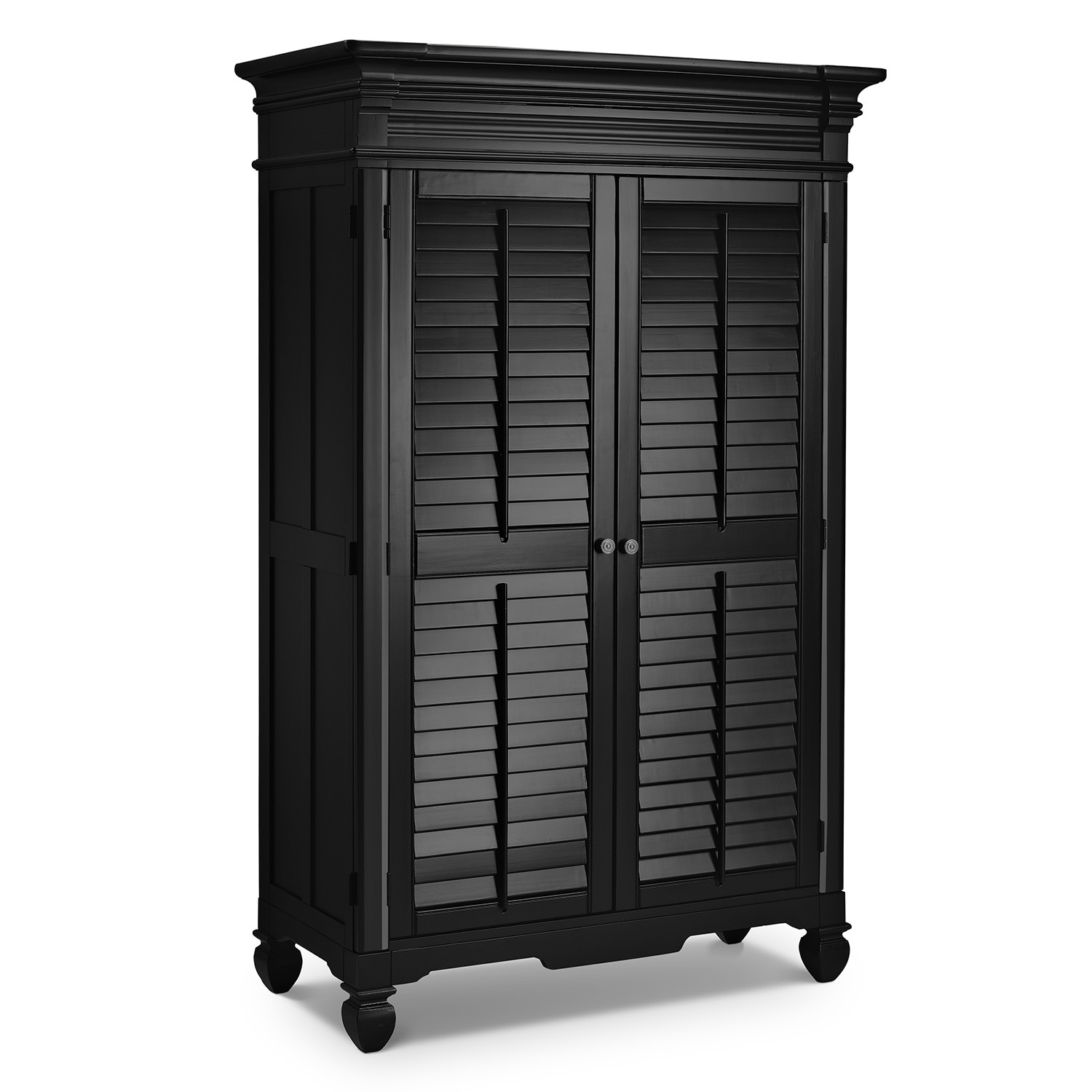 [Plantation Cove Black Armoire]
