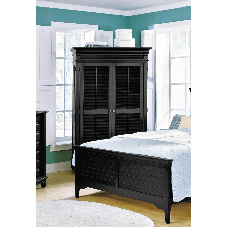 Plantation cove armoire black american signature furniture - Plantation cove bedroom furniture ...