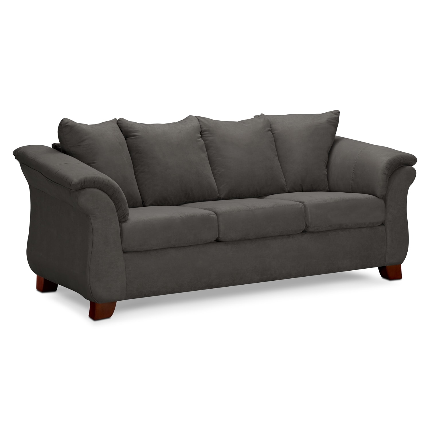 adrian sofa graphite value city furniture. Black Bedroom Furniture Sets. Home Design Ideas
