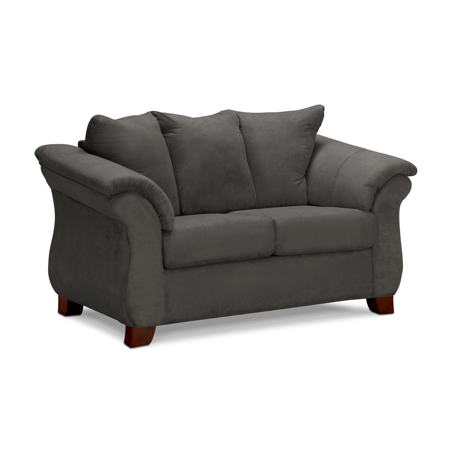 Living Room Furniture - Perry Graphite Loveseat