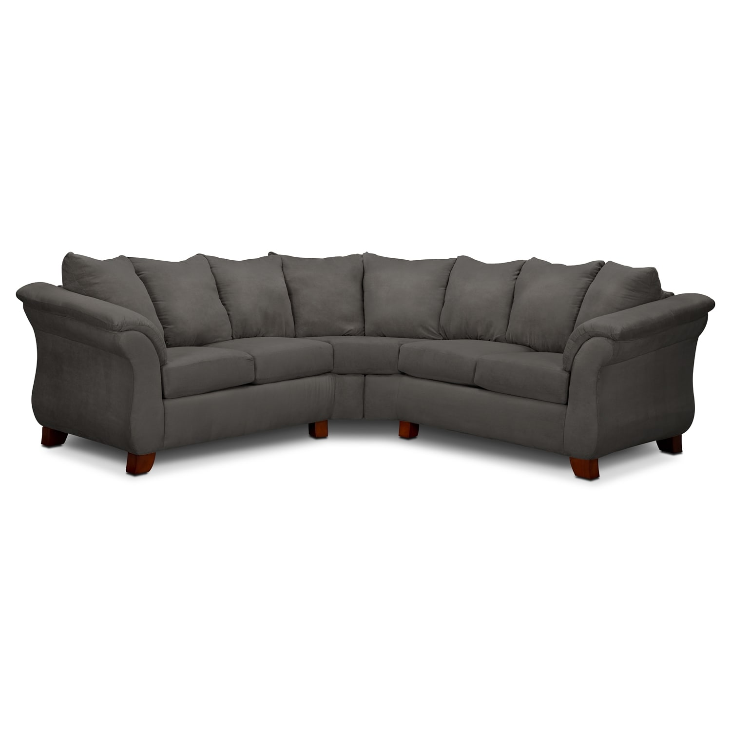 Adrian graphite ii 2 pc sectional value city furniture for Sectional sofa or two sofas