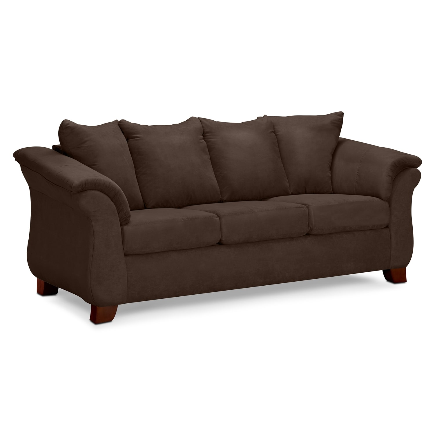 Adrian sofa chocolate american signature furniture for Signature furniture
