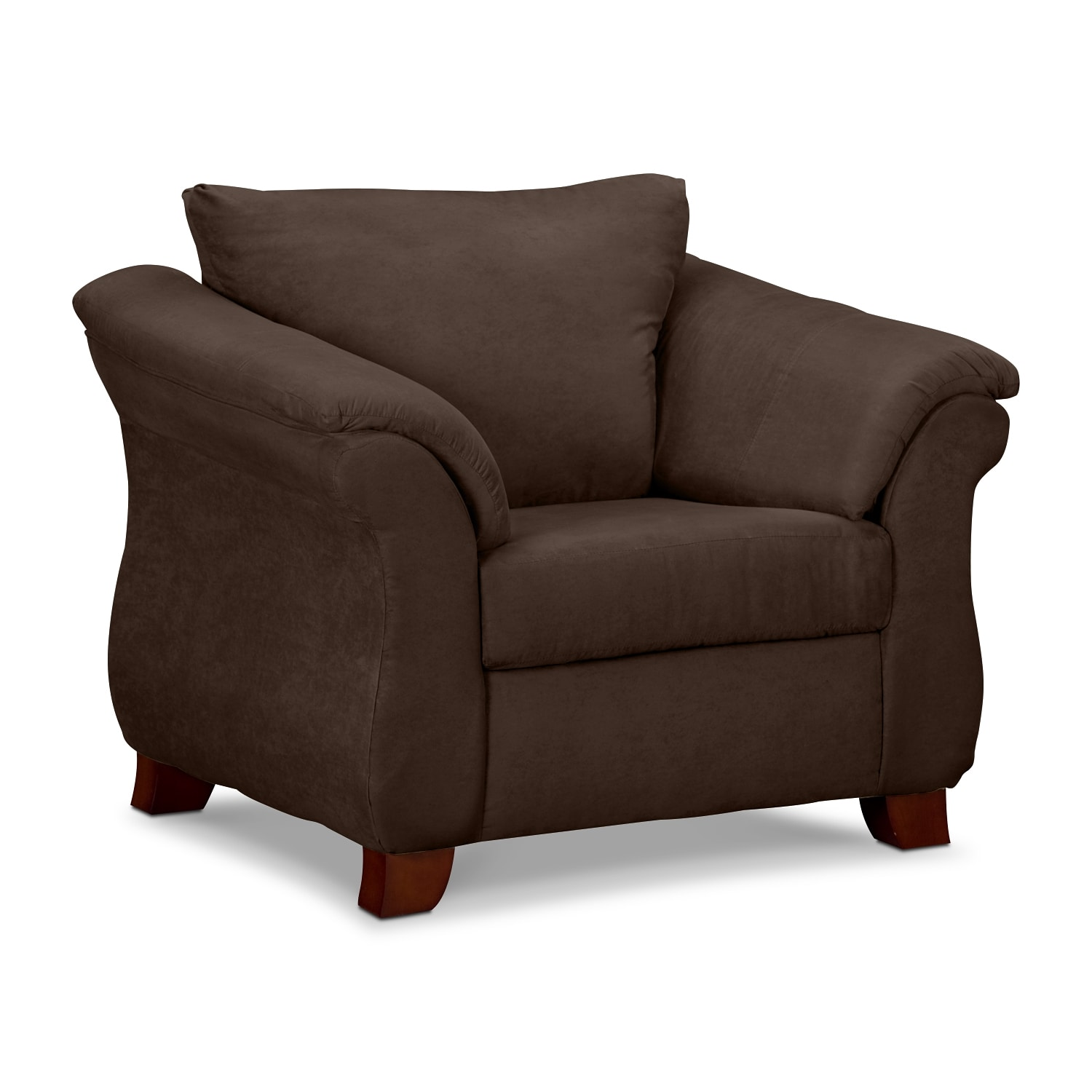 Living Room Furniture - Perry Chocolate Chair