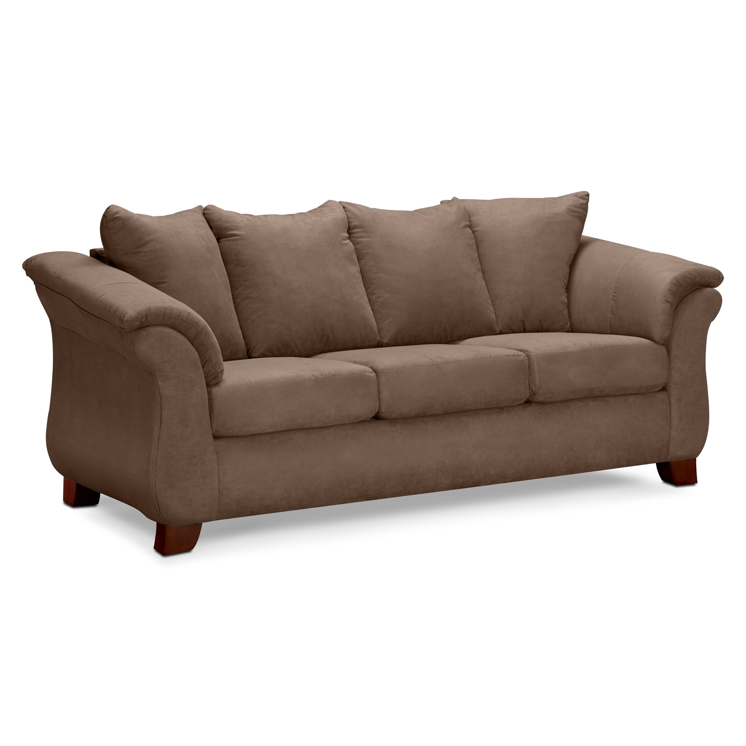 Adrian taupe sofa value city furniture for Furniture sofas and couches