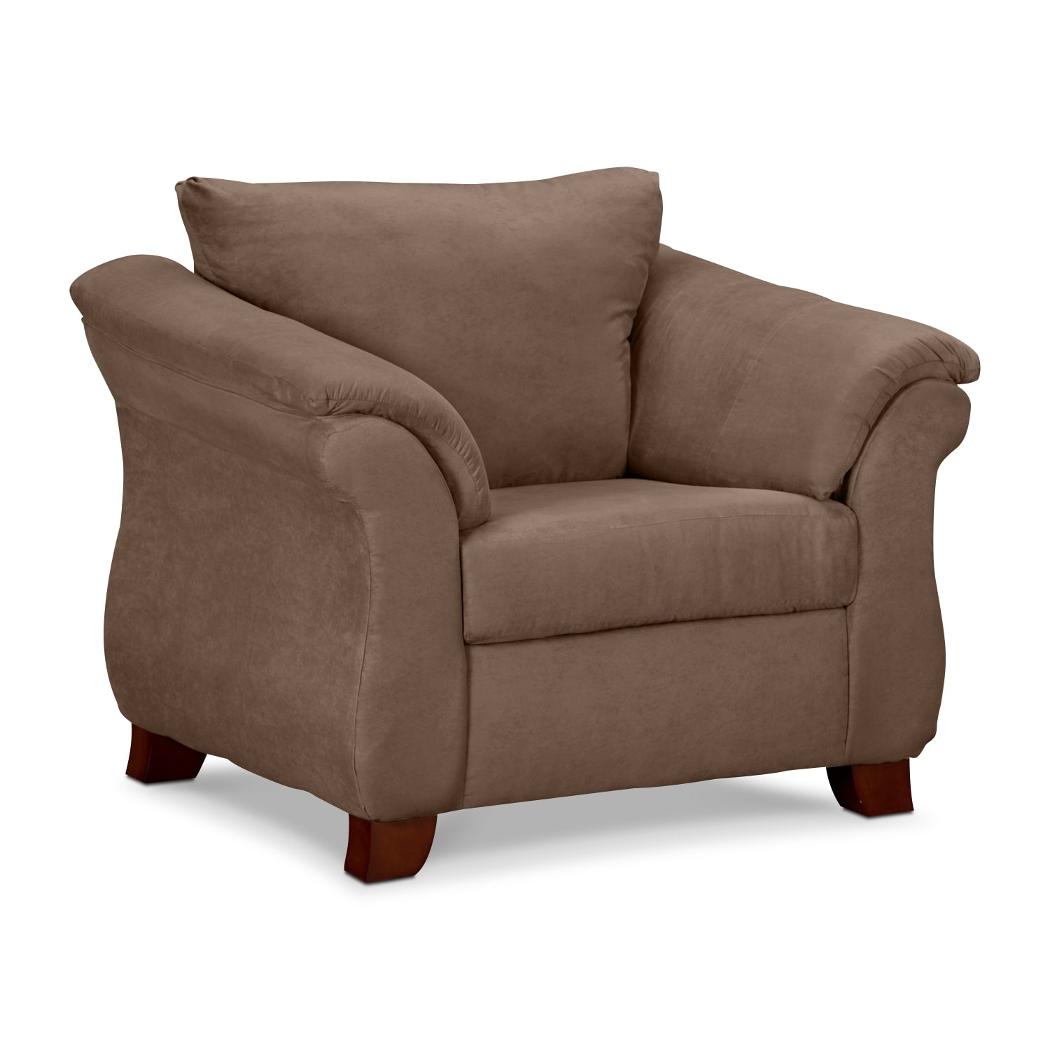 Adrian Taupe Upholstery Chair Value City Furniture