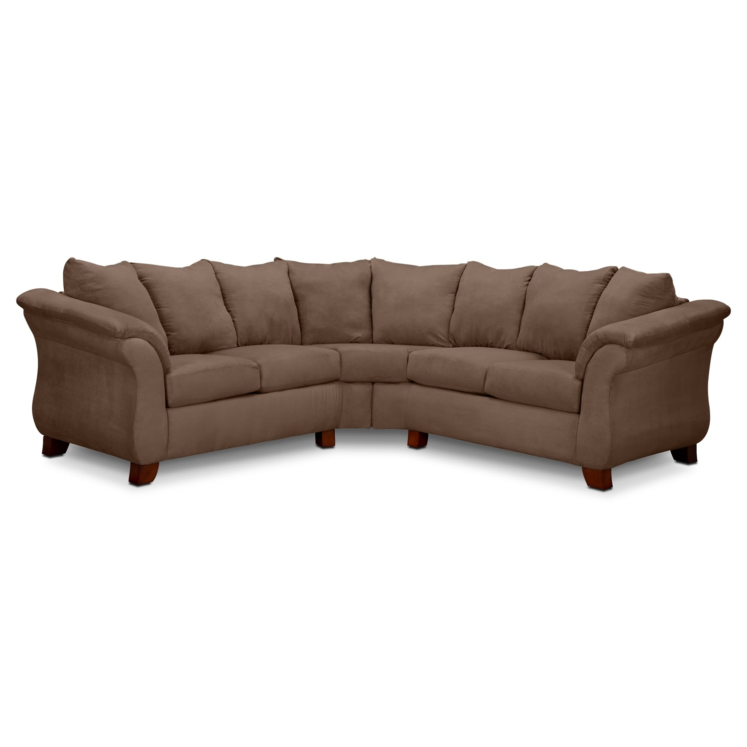 American Signature Furniture Clearance Store: Adrian 2-Piece Sectional - Taupe