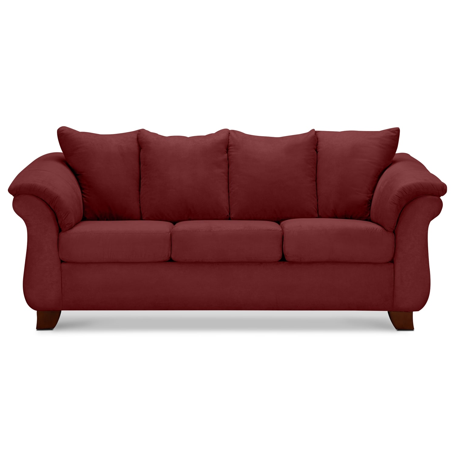 Adrian red upholstery sofa value city furniture for Sofa bed value city furniture