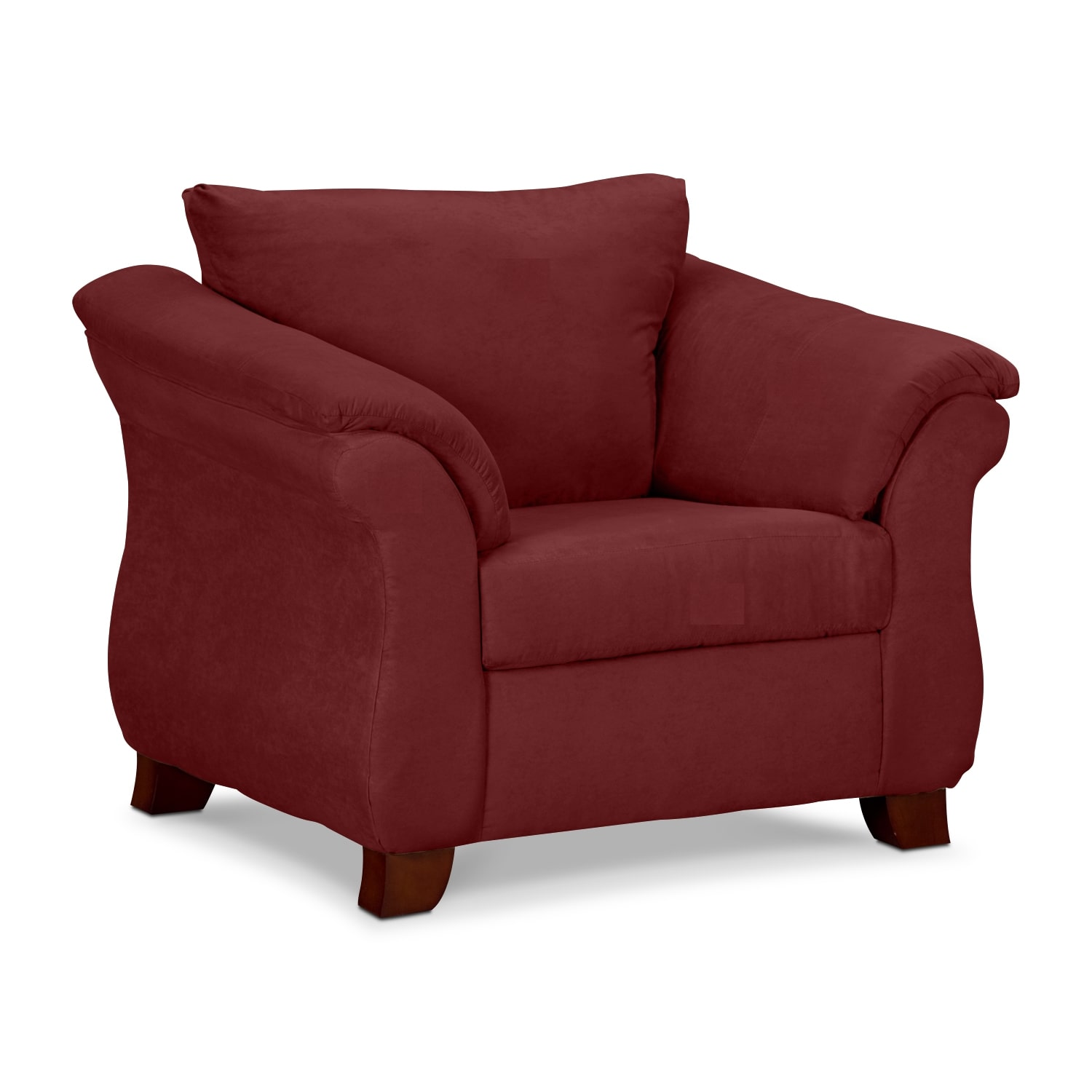 Adrian red chair value city furniture for Sitting room chairs