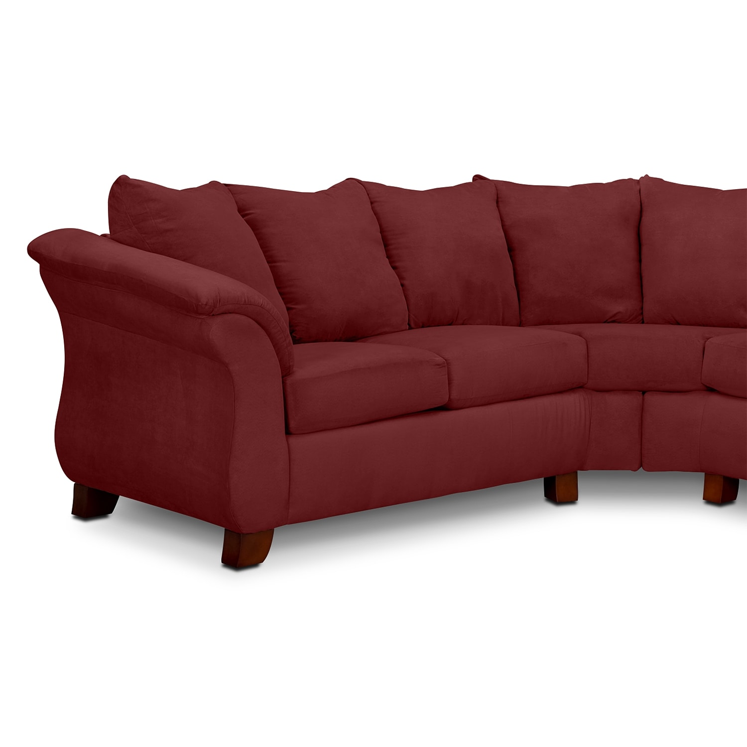 Adrian red ii 2 pc sectional value city furniture for Red sectional sofa value city
