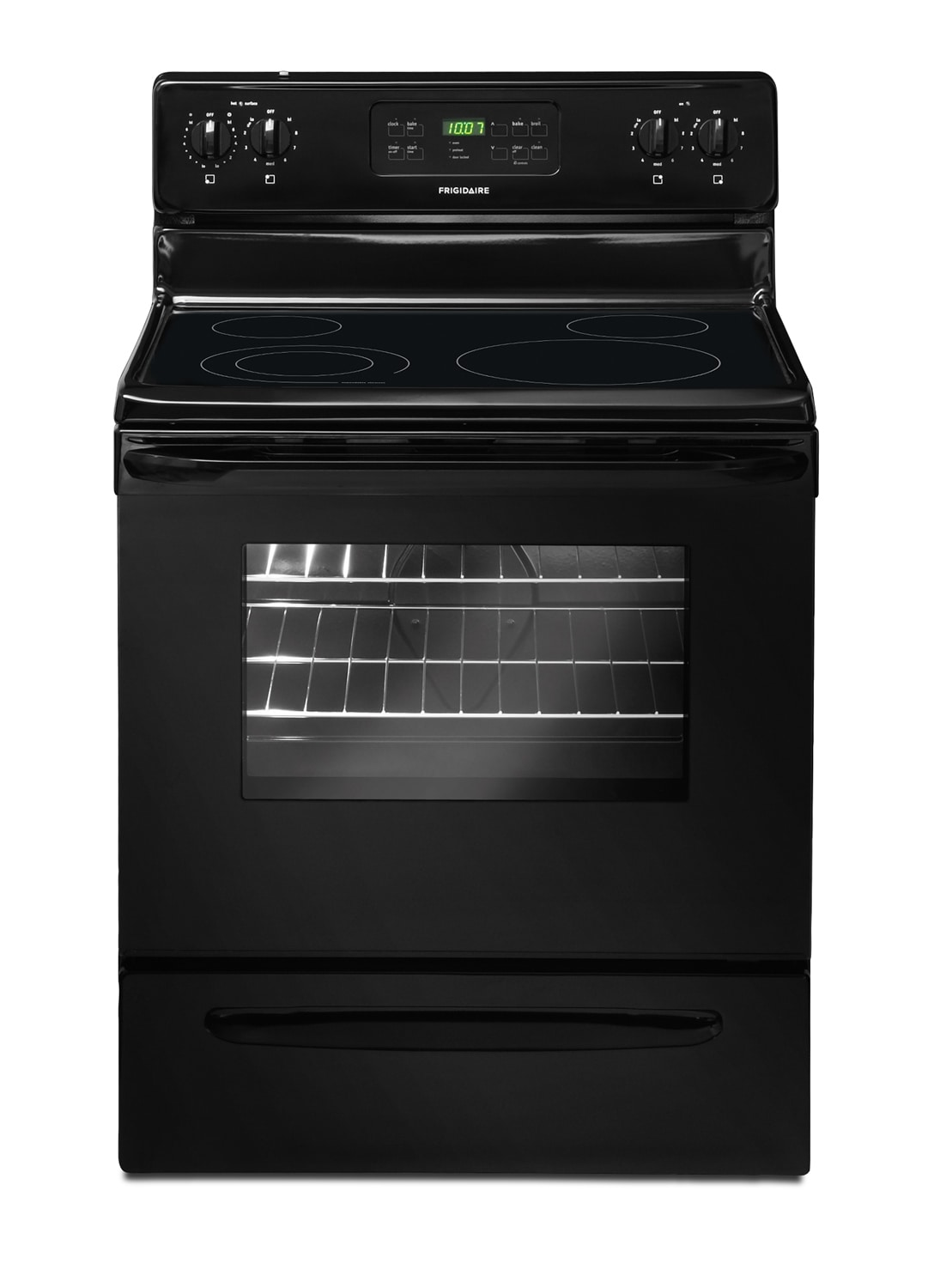 Cooking Products - Frigidaire Black Freestanding Electric Range (5.3 Cu. Ft.) - CFEF3018LB