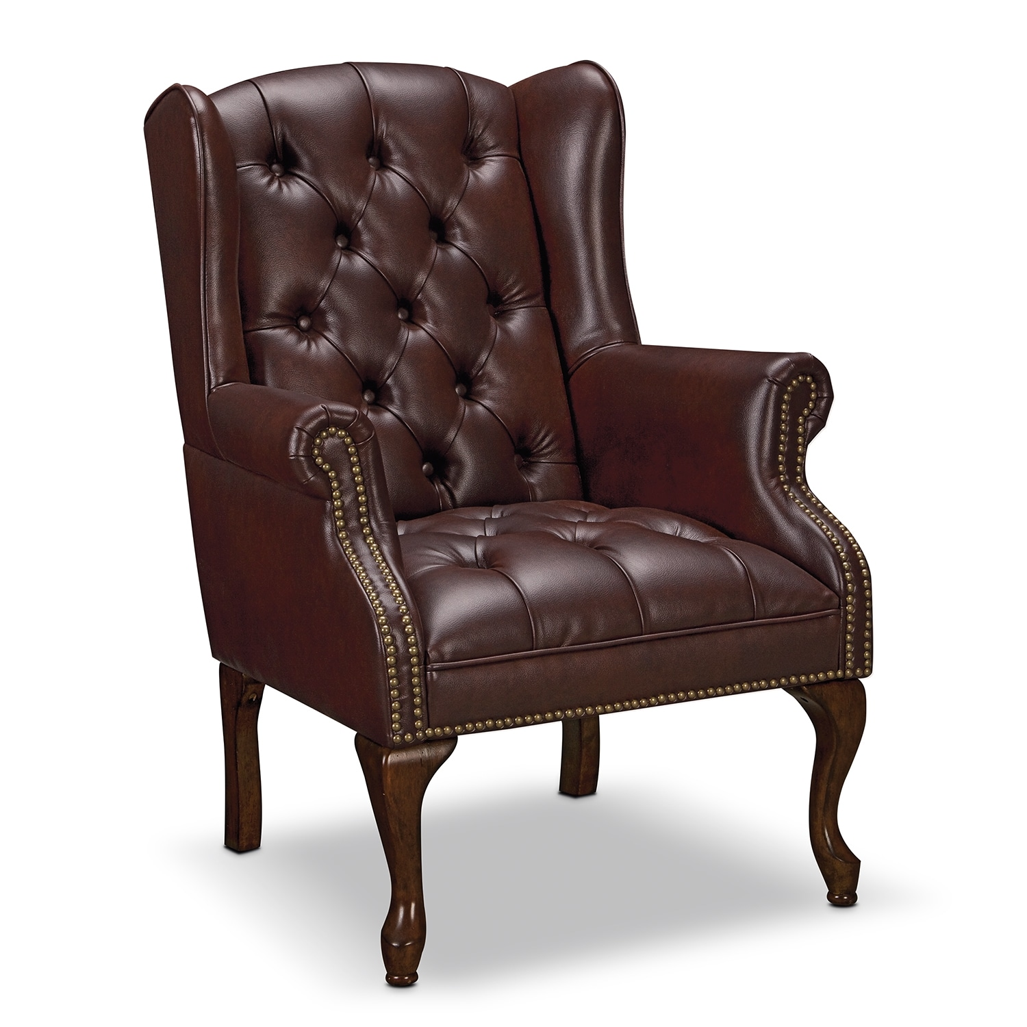 Classic accent pieces accent chair value city furniture for Furniture chairs