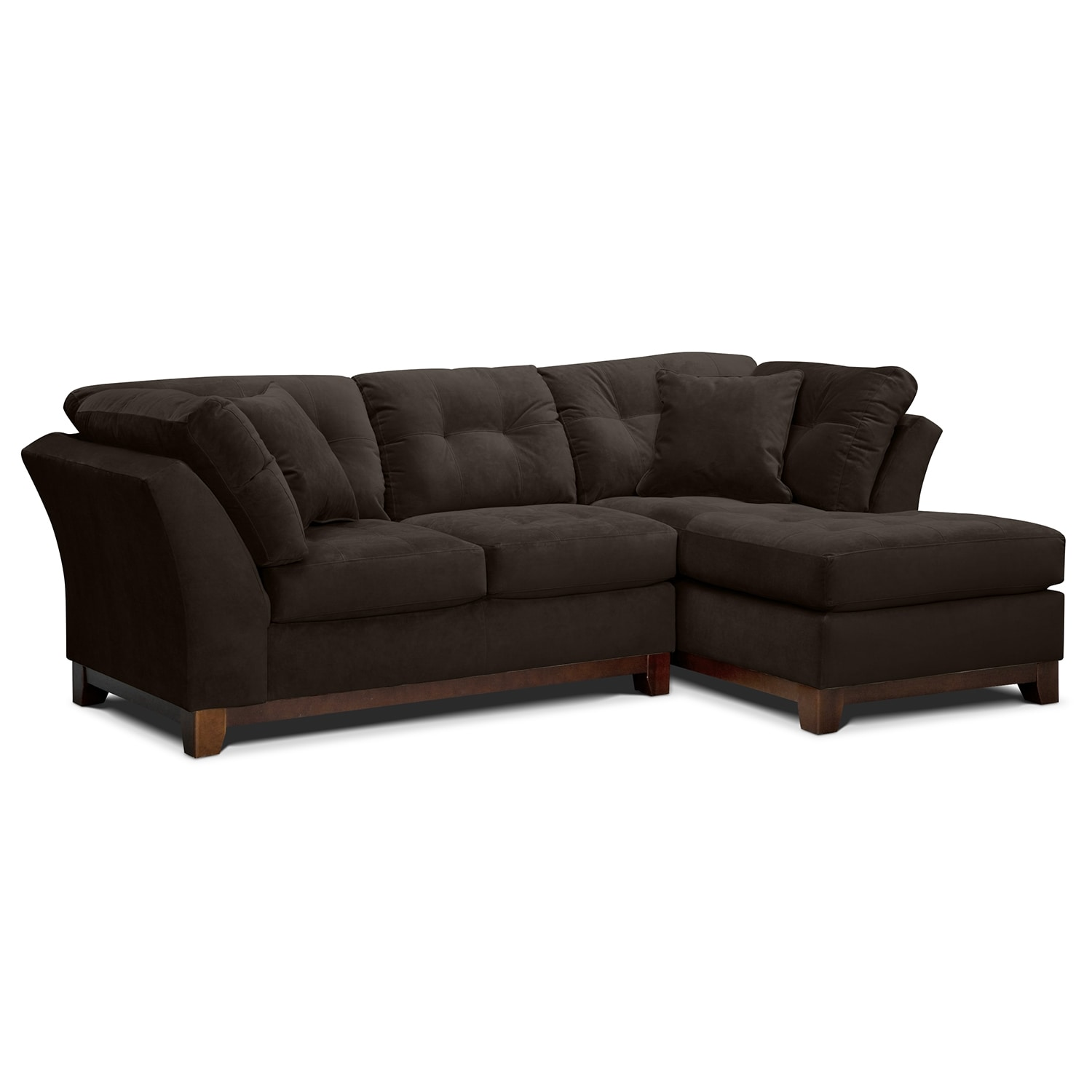 Solace Chocolate Ii Upholstery 2 Pc Sectional Alternate Reverse Value City Furniture
