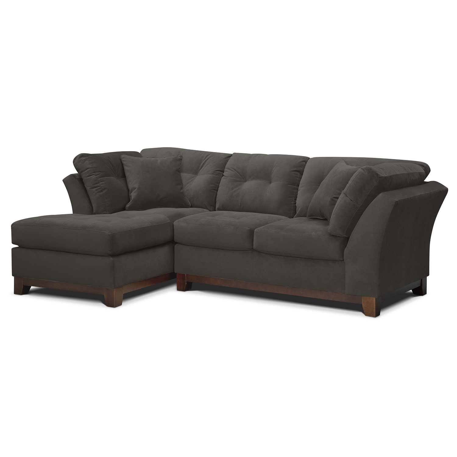 solace gray ii upholstery 2 pc sectional alternate With gray sectional sofa value city