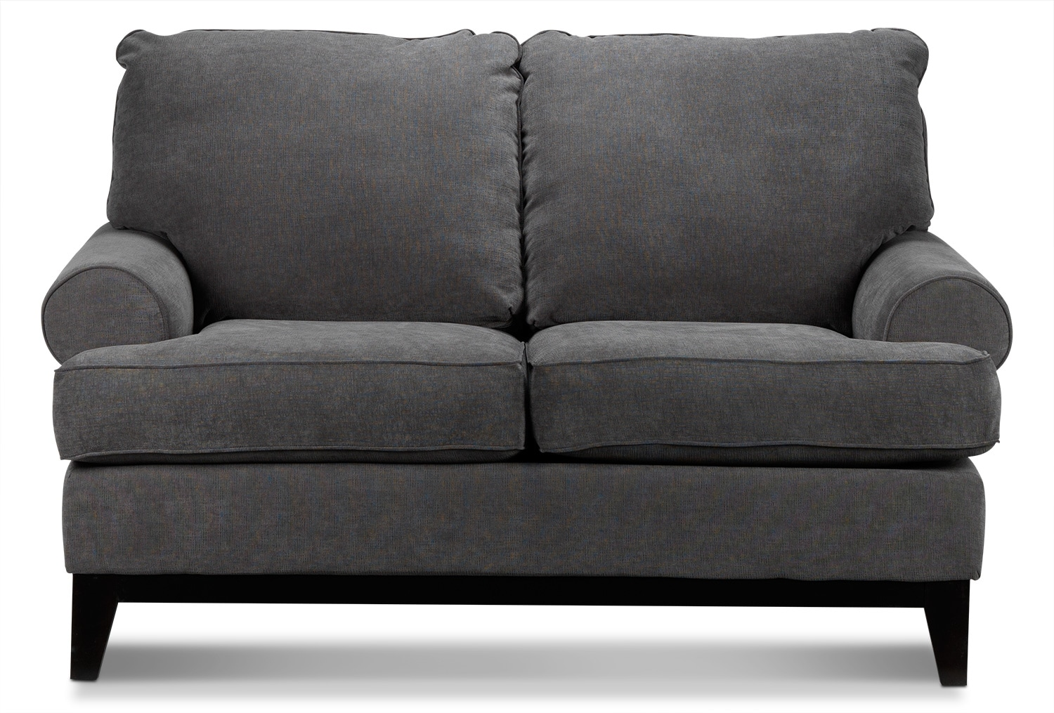 Living Room Furniture - Crizia Loveseat - Dark Grey
