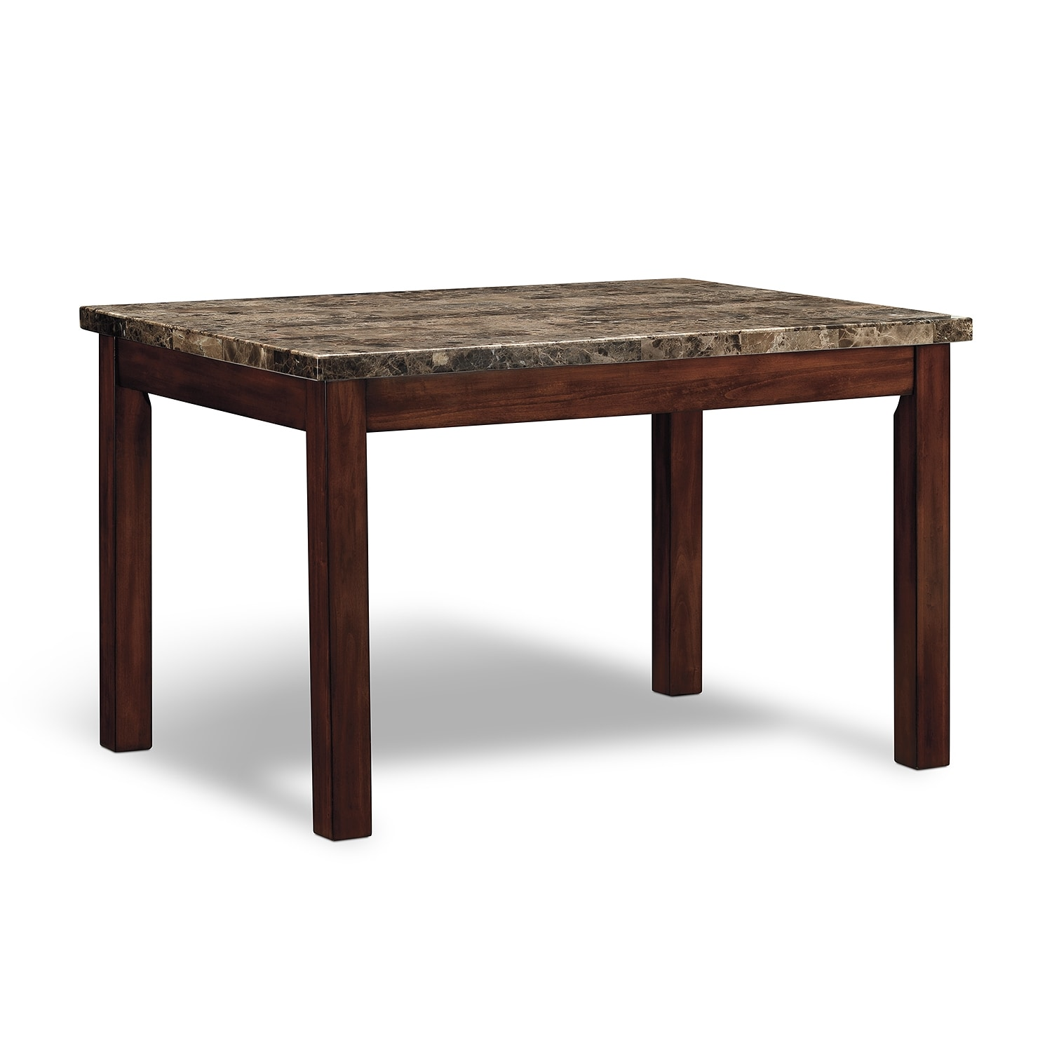 Cornerstone dining room table value city furniture for Dining room tables value city