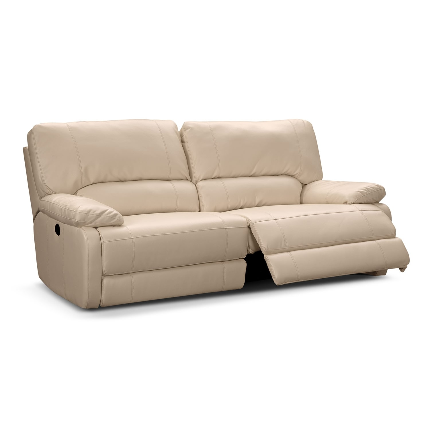 Coronado leather power reclining sofa value city furniture Leather loveseat recliners
