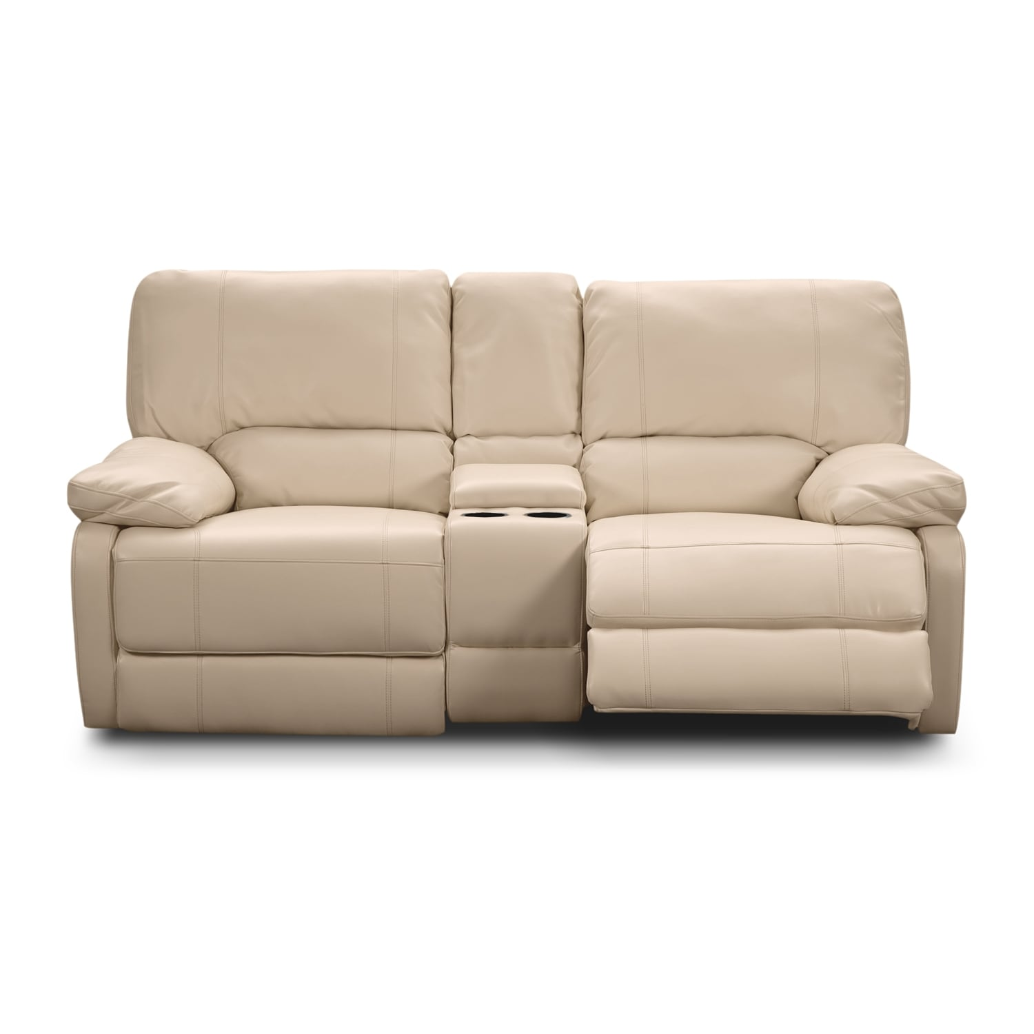 Coronado Leather Power Reclining Loveseat Value City