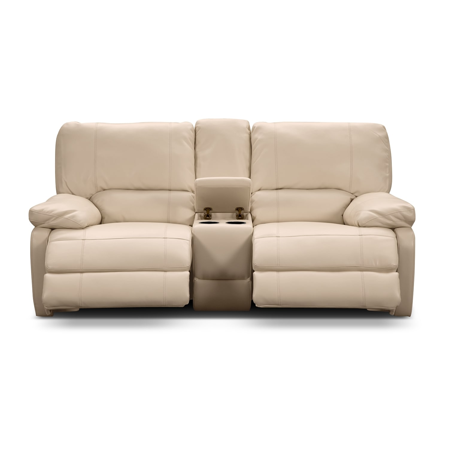 Coronado leather power reclining loveseat value city furniture Loveseats that recline