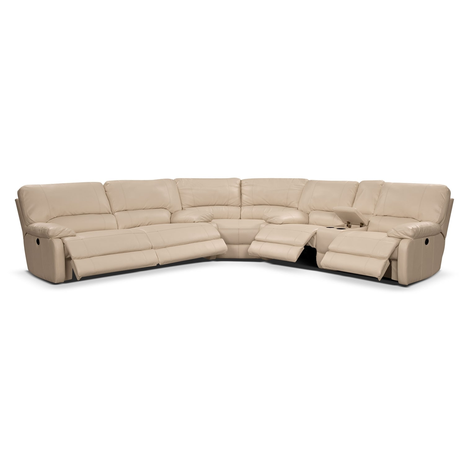 coronado leather 3 pc power reclining sectional value