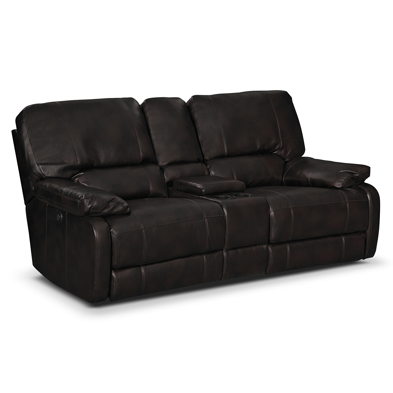 coronado ii leather power reclining loveseat value city furniture