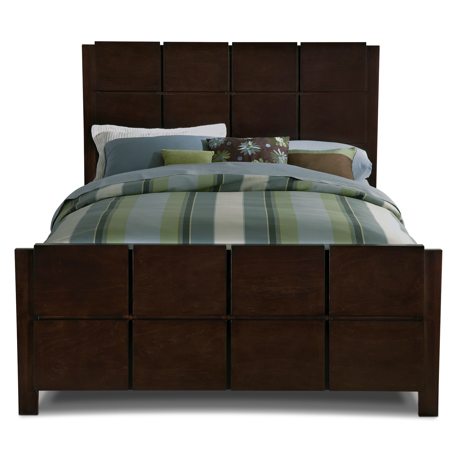 mosaic king bed brown value city furniture
