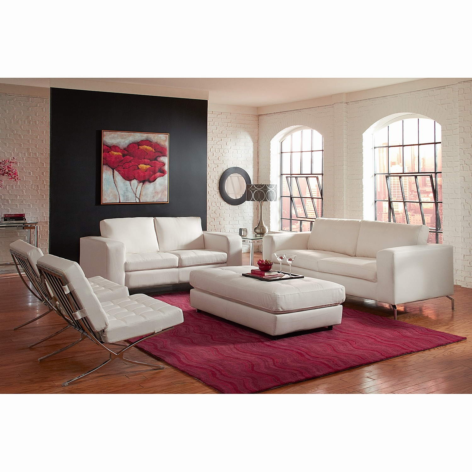 Casino Leather Loveseat Value City Furniture