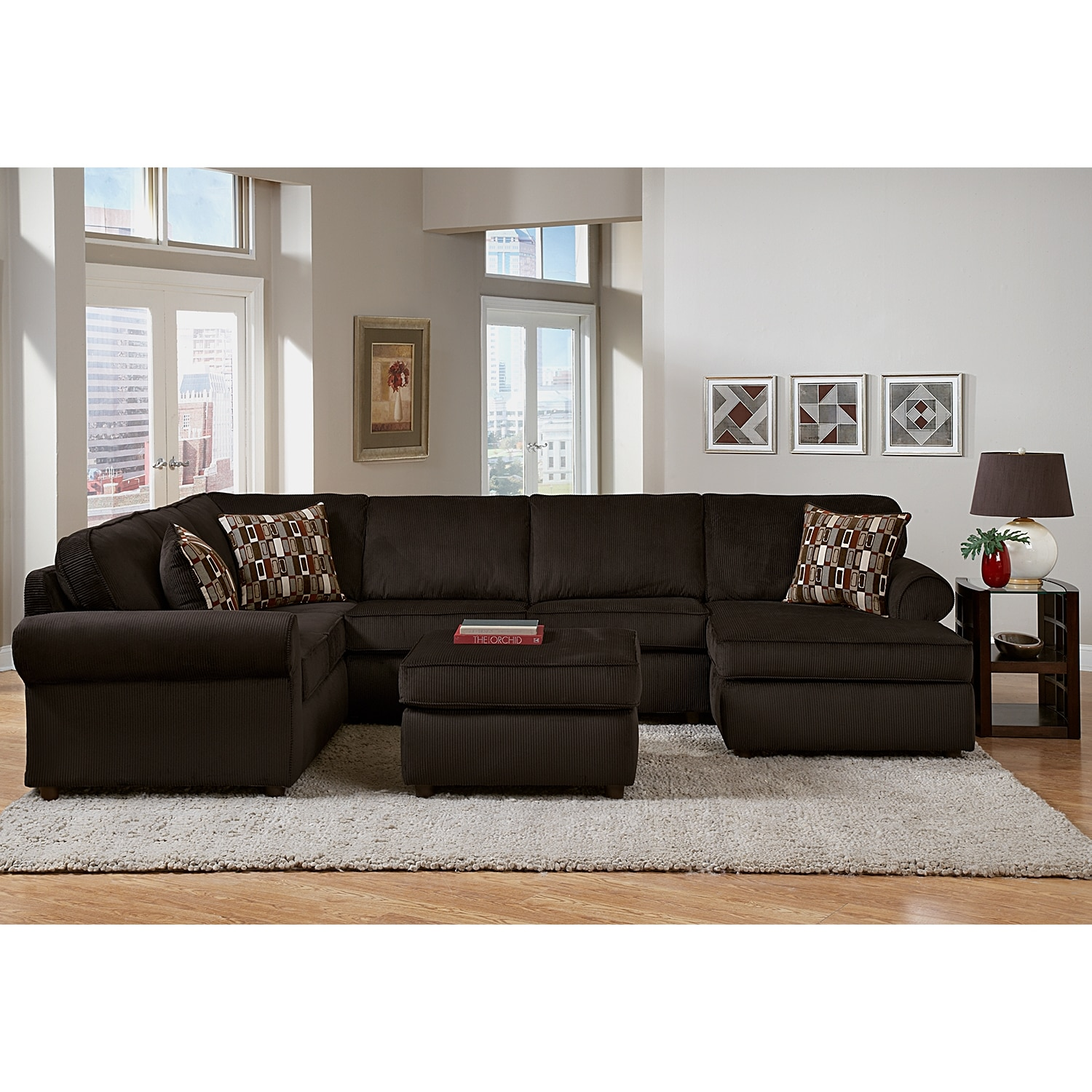 Monarch 3 piece sectional value city furniture