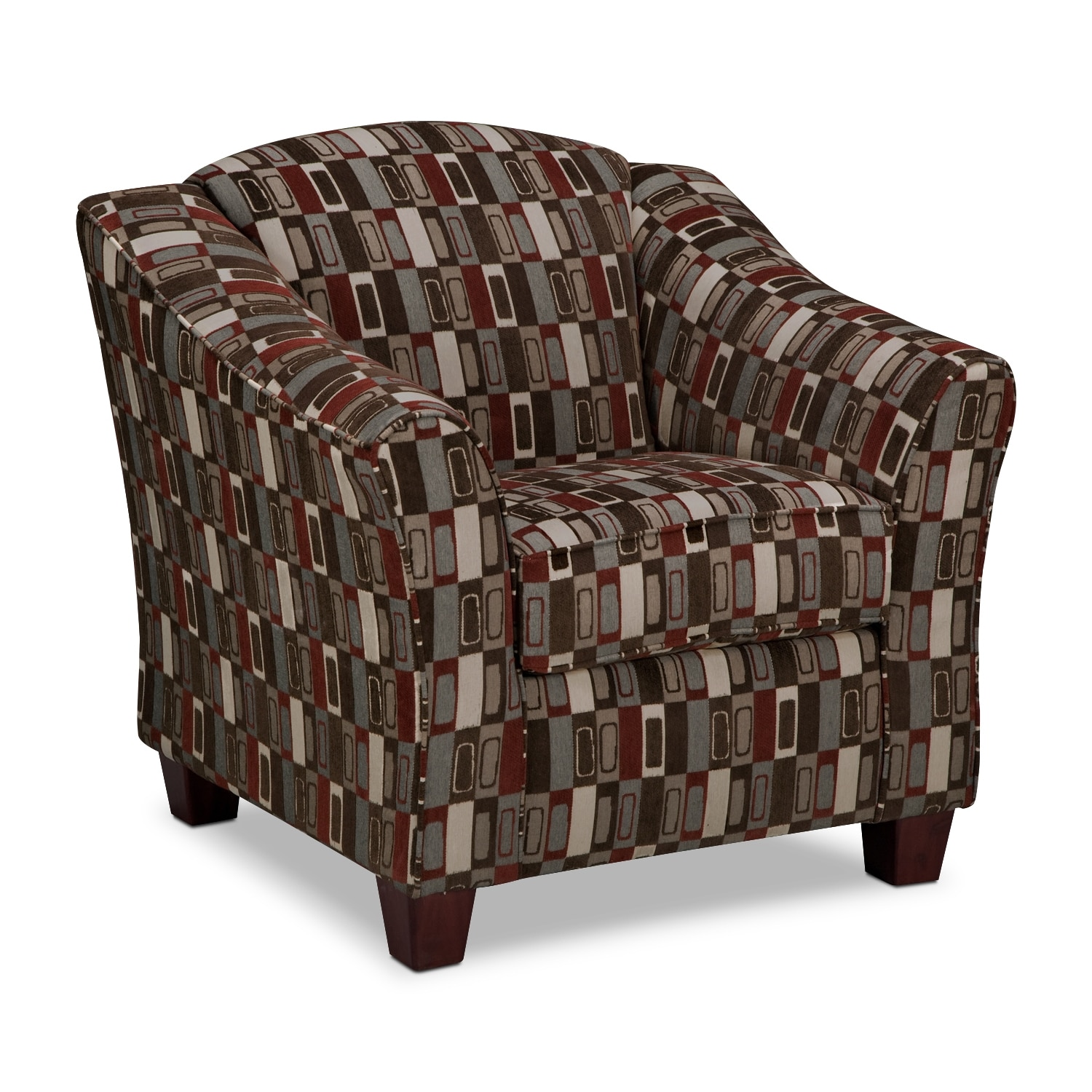 Monarch Accent Chair - Coffee And Cranberry