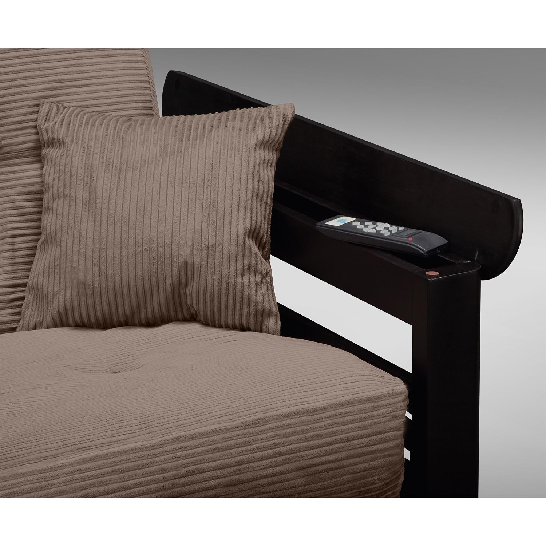 Tampa futon sofa bed beige value city furniture for Sofa bed value city furniture