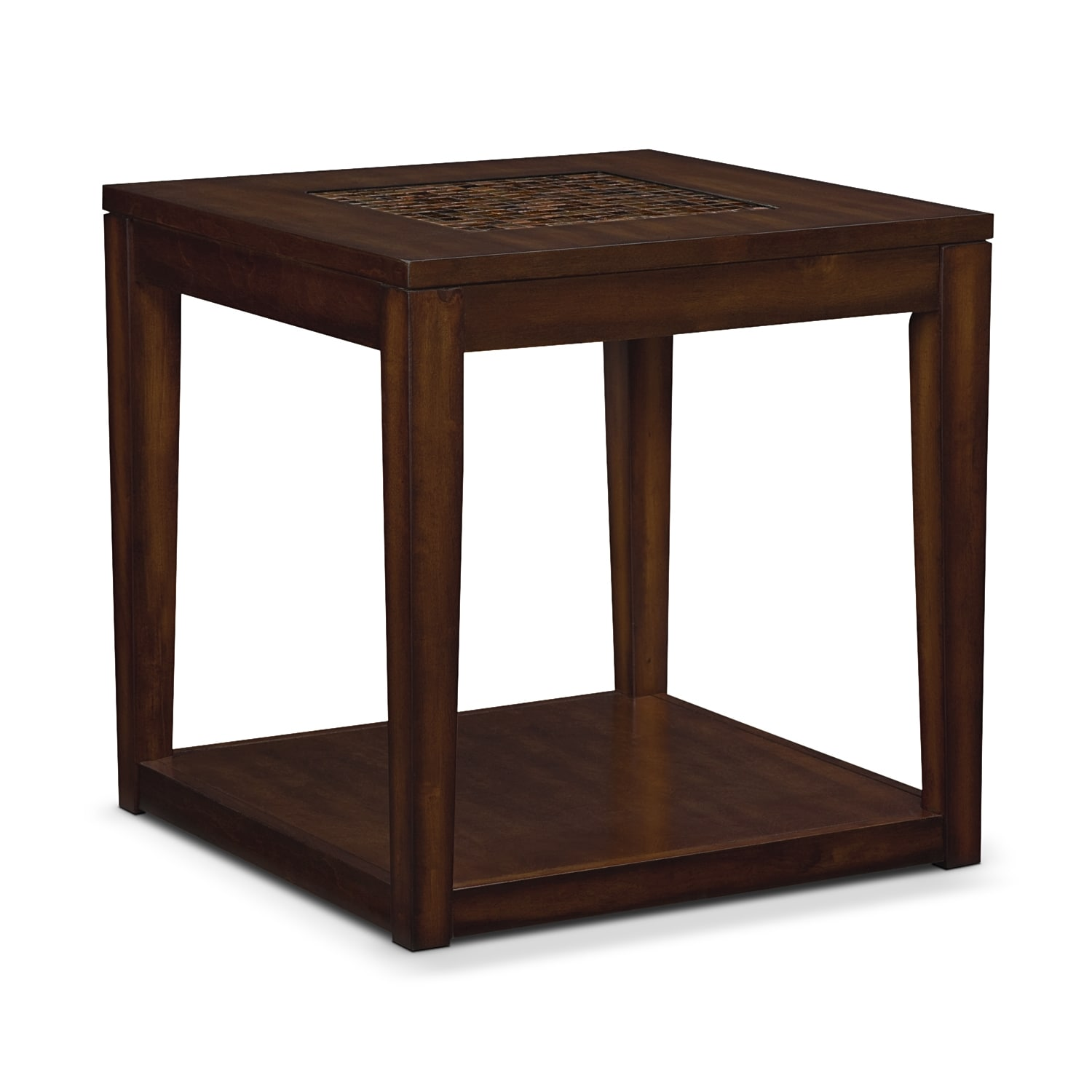 Carson End Table - Brown