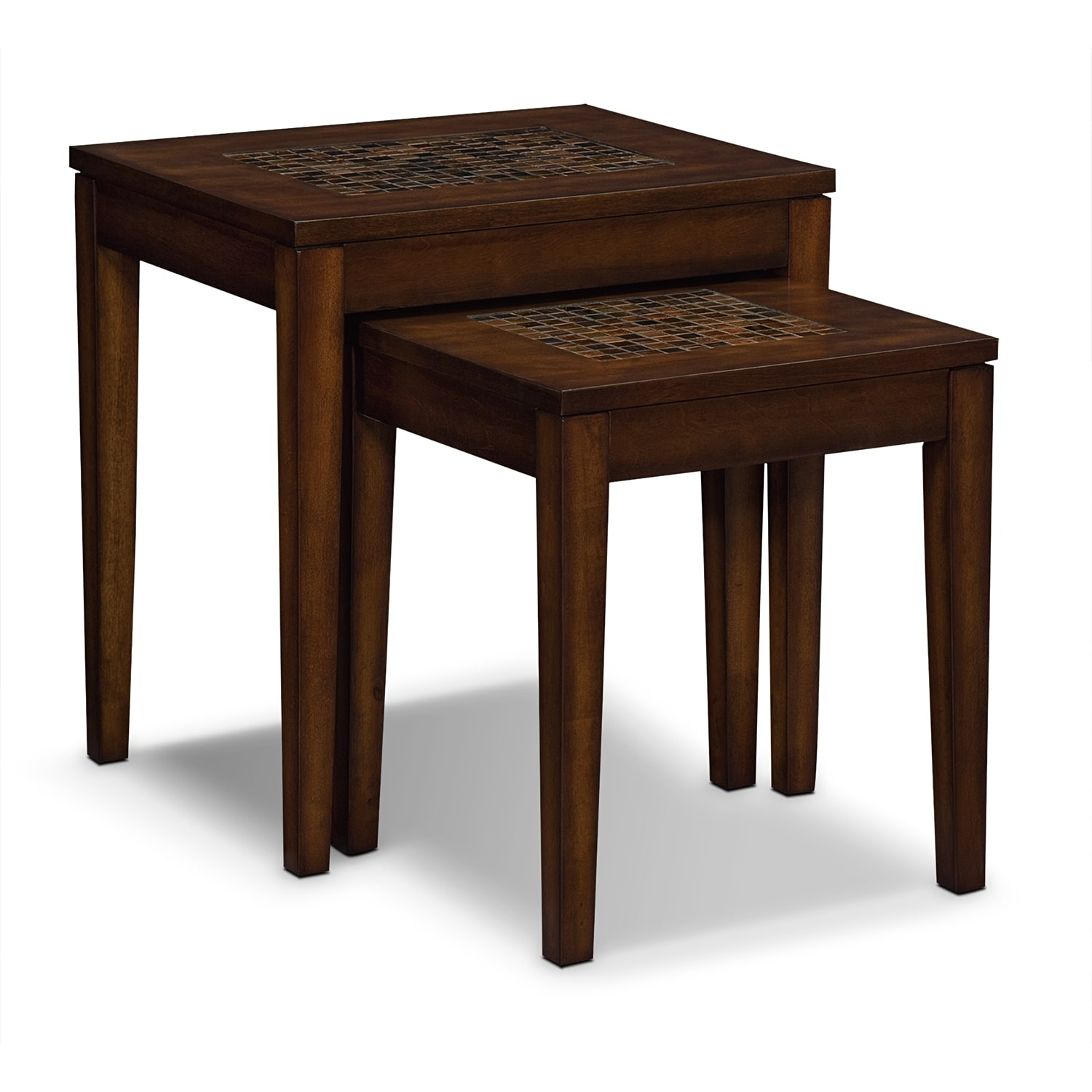 Carson nesting tables value city furniture for Occasional furniture