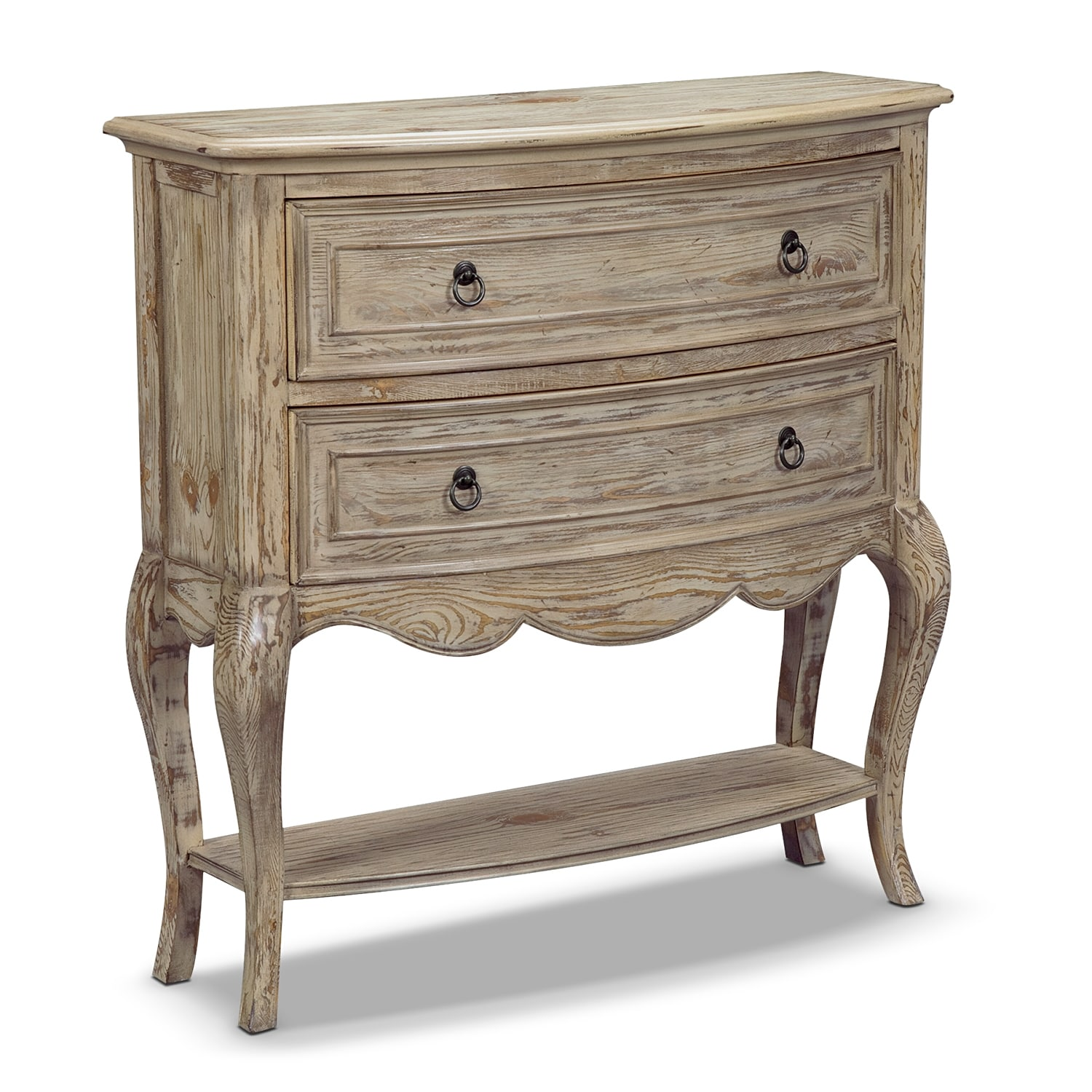 chloe accent pieces hall console value city furniture